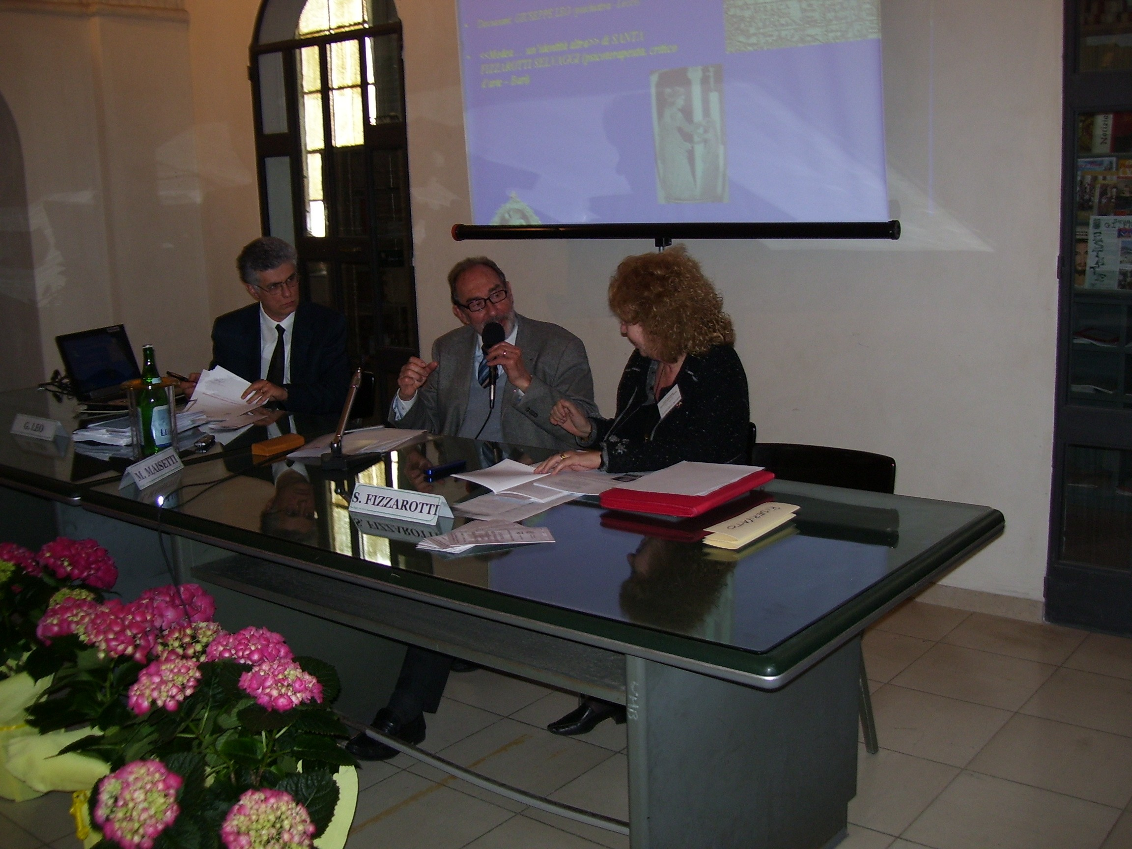 2008                                                                                                          I° Congresso Id-entità mediterranee: M. Maisetti, S. Fizzarotti Selvaggi