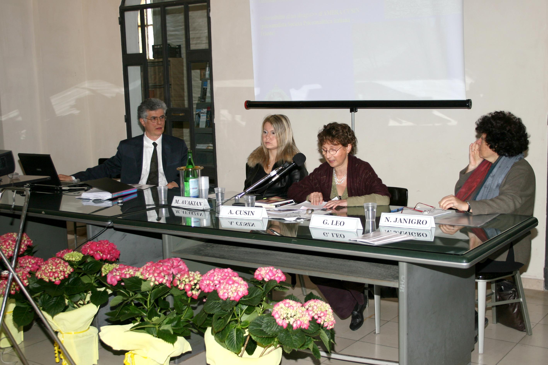 I° Congresso Id-entità mediterranee:A. Cusin, M. Avakian, N. Janigro,                                                                                                        G. Leo